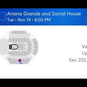 2 Ariana Grande tickets for sell! 125$ total both